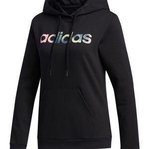 Adidas sweatshirt pullover black rainbow originals